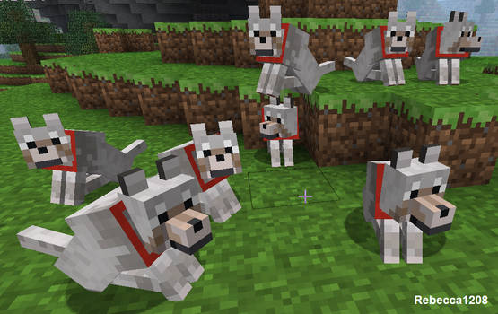 Minecraft Wolves by Rebecca1208