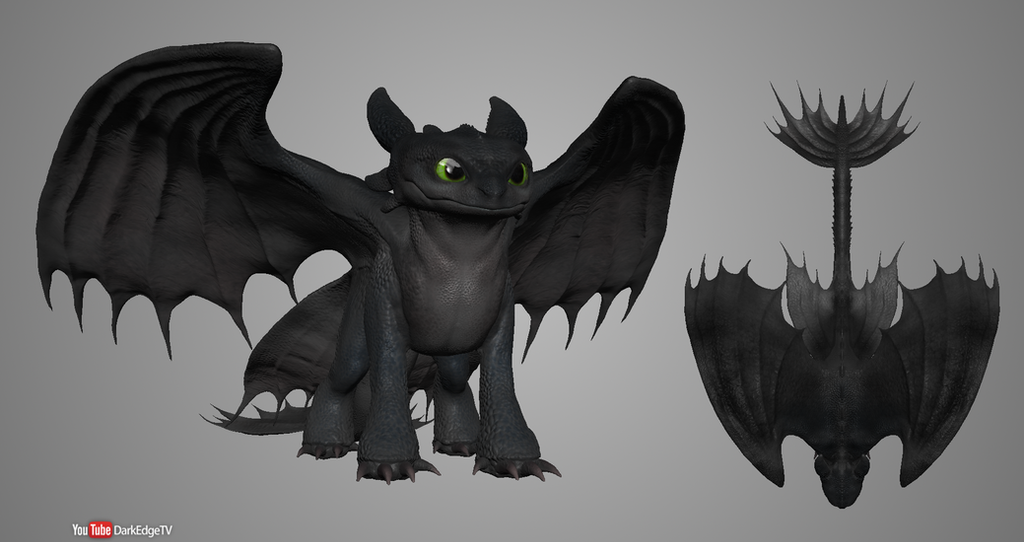 Sculptris - Nightfury by Rebecca1208