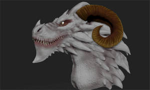ZBrush - Ghost Dragon Bust (unfinished) by Rebecca1208