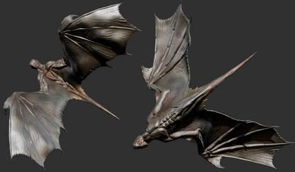 ZBrush - Wings Study 2 by Rebecca1208