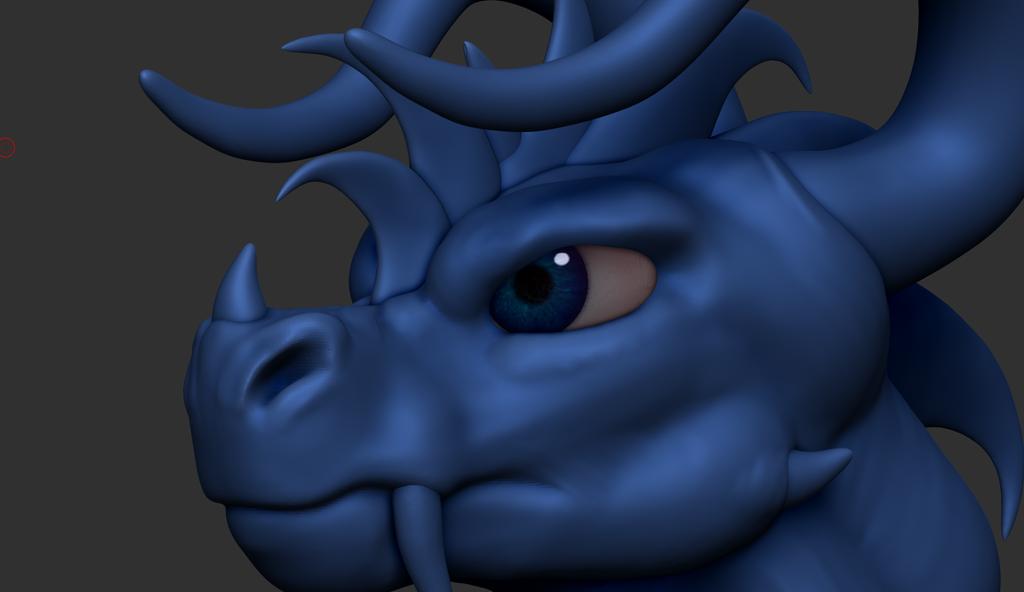 ZBrush - Kimo Head 2 WIP - Blue Eyes by Rebecca1208