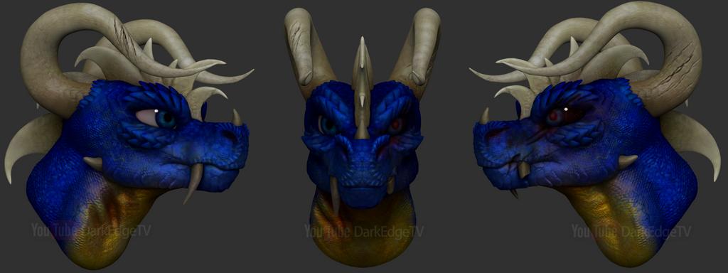 ZBrushCore - ''Kimo Krayt'' Dragon Bust by Rebecca1208