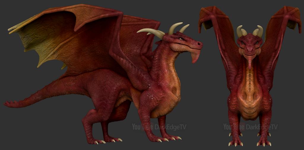 ZBrushCore - Full-Body Dragon 01 by Rebecca1208