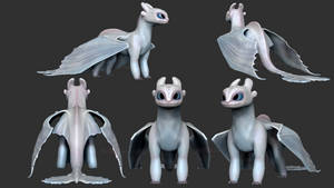 ZBrush - Light Fury (HTTYD3) by Rebecca1208