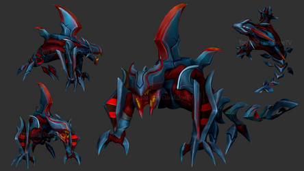 ZBrush - Eternum Rek'sai - League of Legends by Rebecca1208