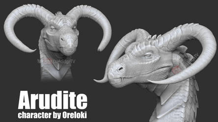 Arudite TEXTURELESS - COMMISSION ZBrushCore by Rebecca1208