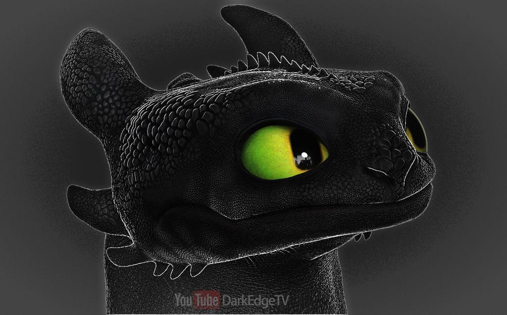Toothless, Nightfury Portrait (again) - ZBrushCore by Rebecca1208