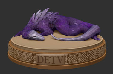 Crystal Sleeping Draki - ZBrush