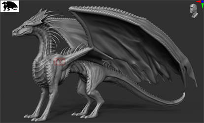 ''Xeno-Dragon'' WIP#2 - ZBrush COMMISSION