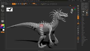 ''Char Raptor'' WIP - ZBrush