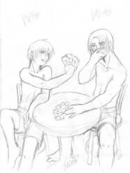 Strip poker - sketch by pika