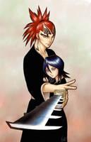 Bleach - Renji and Rukia by pika