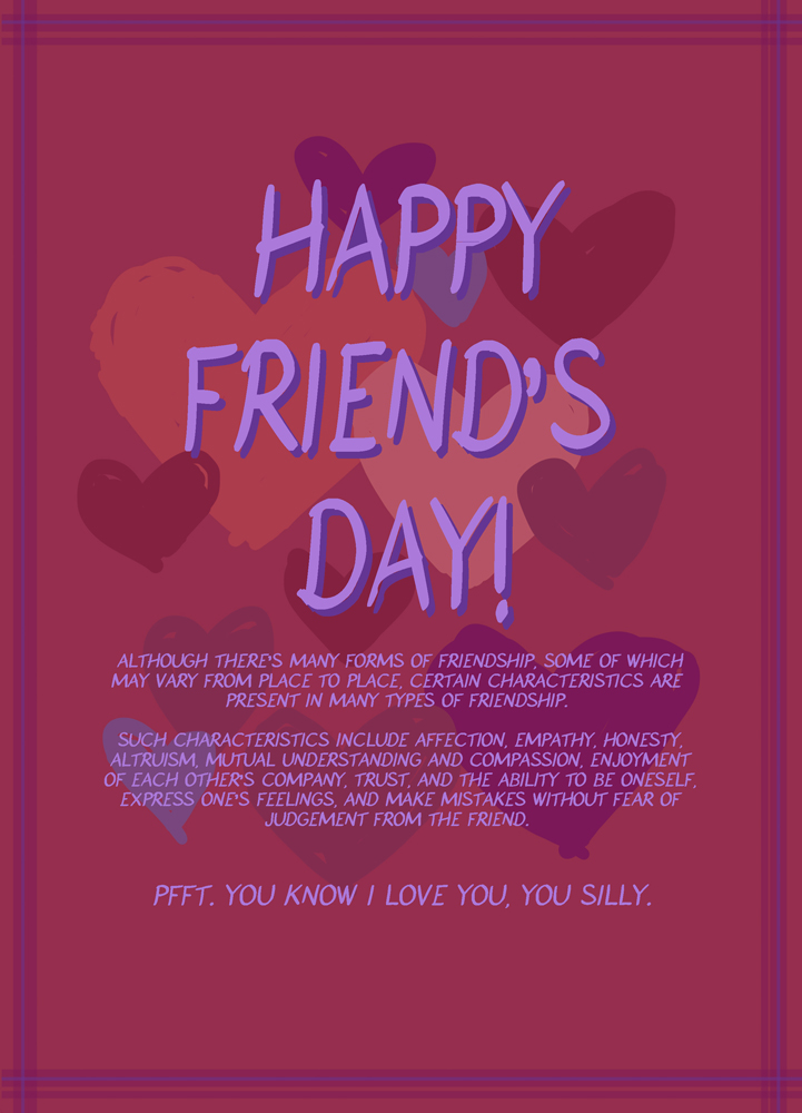 What Valentine? Lets enjoy friendship instead! by pika