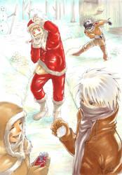 Naruto - Yondaime team's X-mas by pika