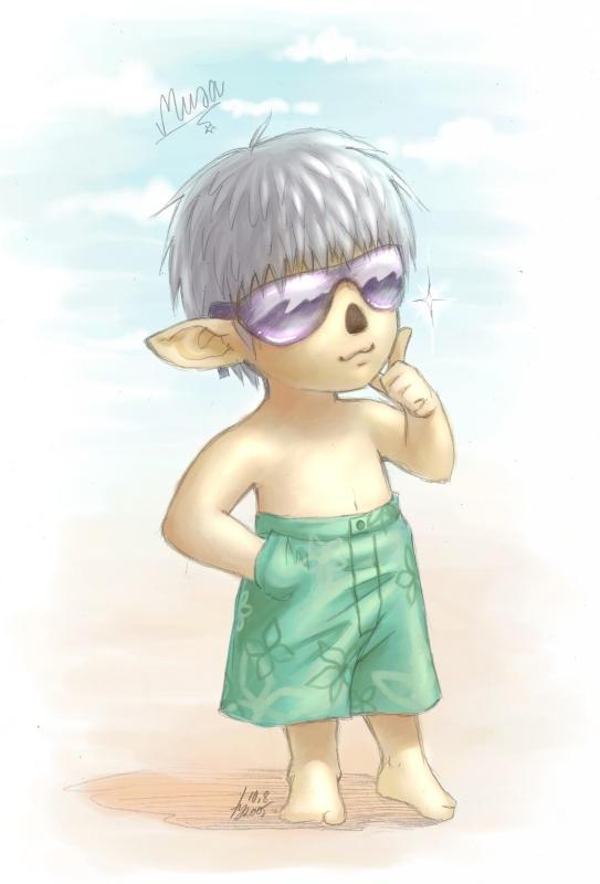 FFXI   Taru with sunglasses by pika