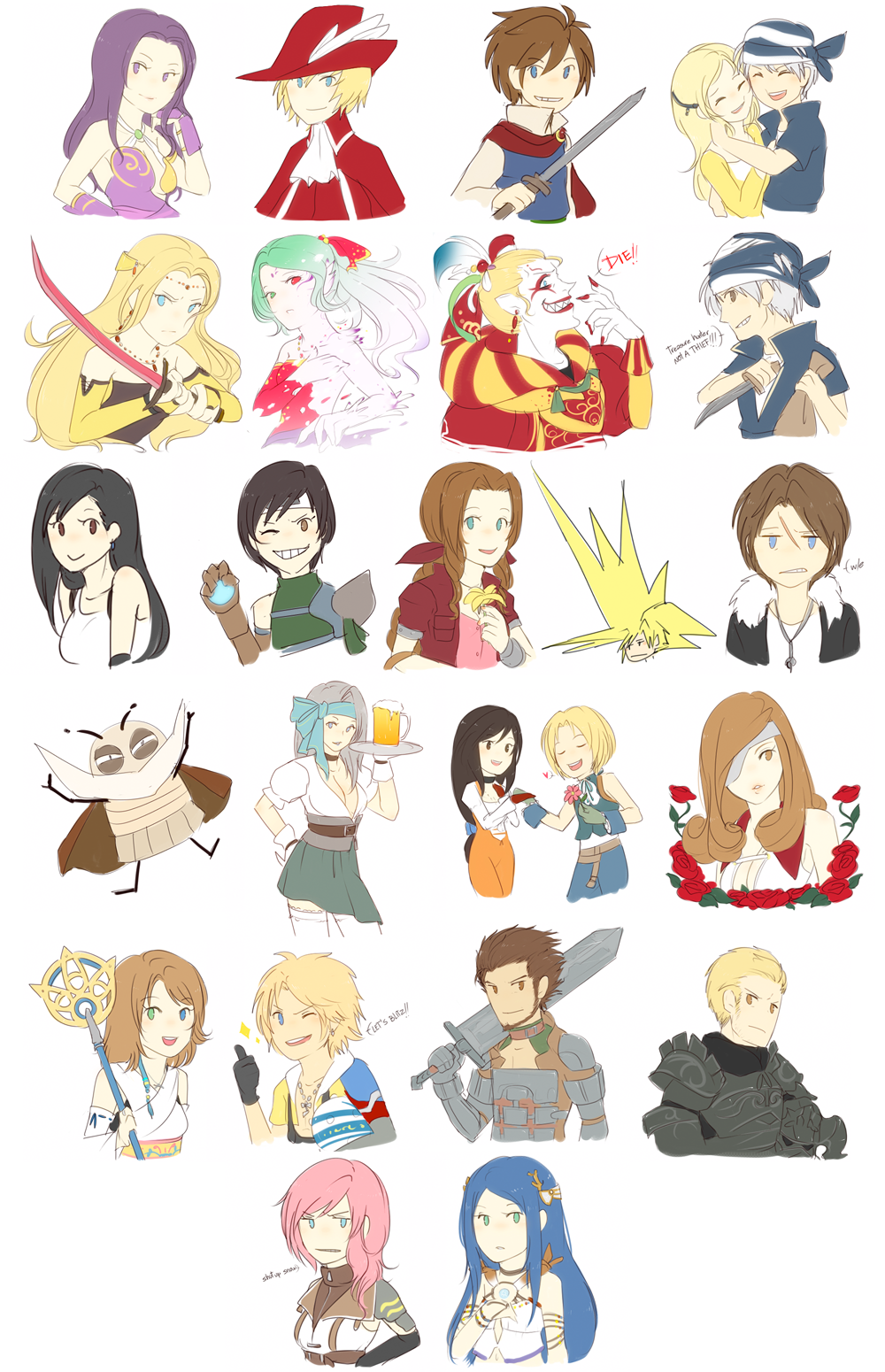 i heart final fantasy by chocographs