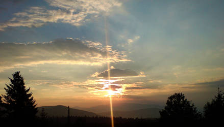 sunset over silence by cravspuma