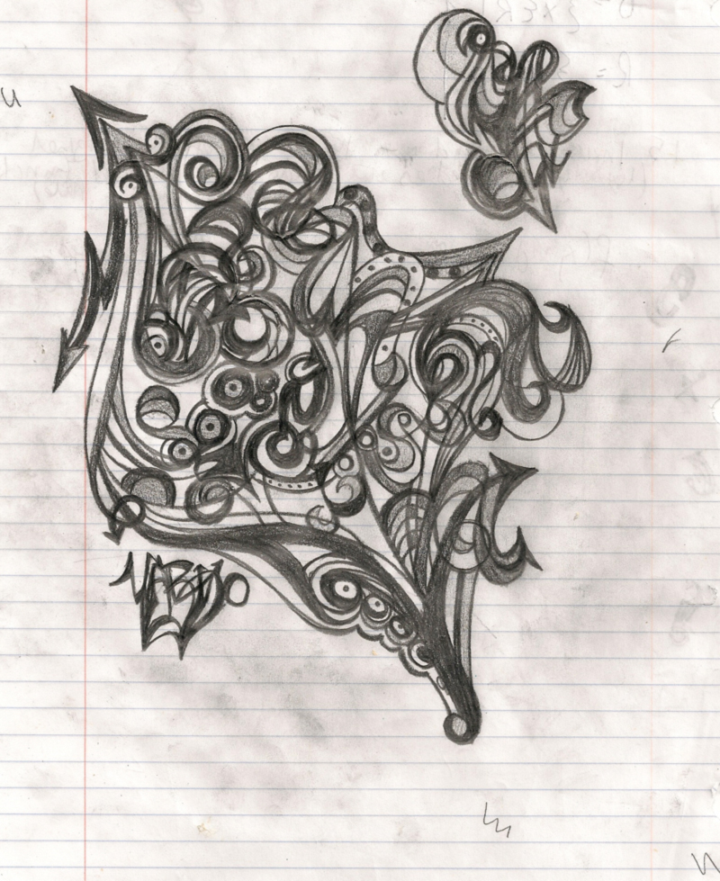 Abstract pencil sketch doodle by 00yarko