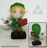 Beaded doll: Link (Legend of Zelda) by crafty-maika