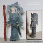 Beaded doll: Gandalf the Grey