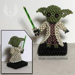 Beaded doll: Yoda by crafty-maika