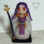 Beaded doll: Hilda (A Link between Worlds) by crafty-maika