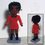 Beaded doll: Nyota Uhura