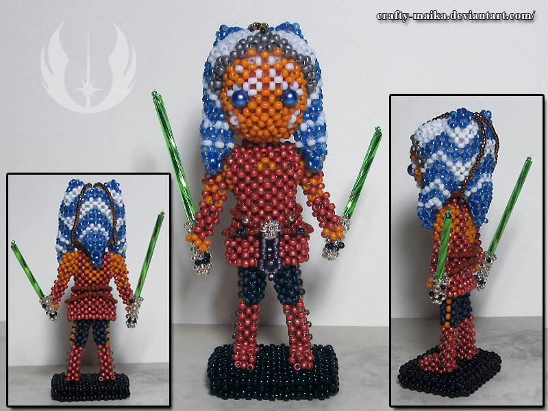 brand new d9f6a ad84c Beaded doll: Ahsoka Tano by crafty-maika on DeviantArt