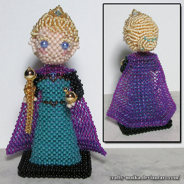 Beaded doll: Elsa (Frozen) by crafty-maika