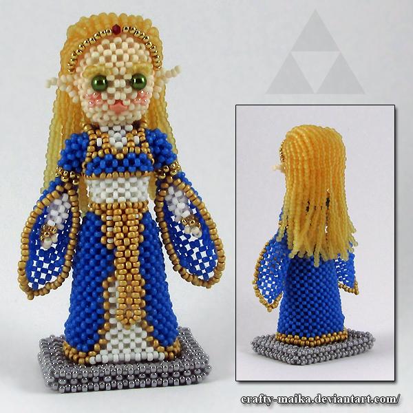 Bead doll: Zelda (Breath of the Wild) by crafty-maika