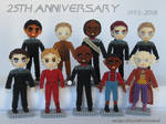Beaded cast:  Star Trek - Deep Space Nine by crafty-maika