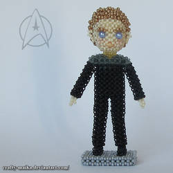 Beaded doll: Miles O'Brien