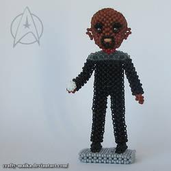 Beaded doll: Benjamin Sisko