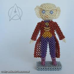 Beaded doll: Quark