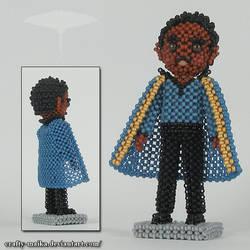 Beaded doll: Lando Calrissian