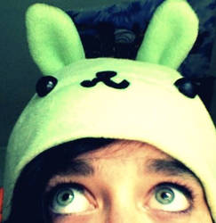 Flying Mint Bunny Hat by Jacob4Ever