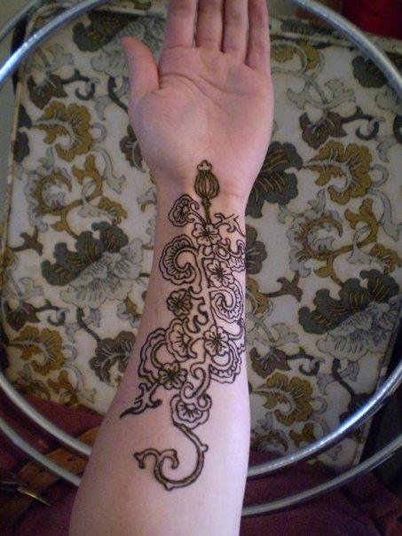 ~floral henna tattoo~ by Emeraldserpenthenna