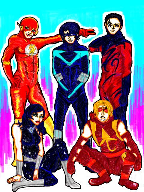 Original Titans Members by vivian-girl