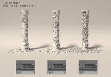 Old Column - Low Poly by anul147