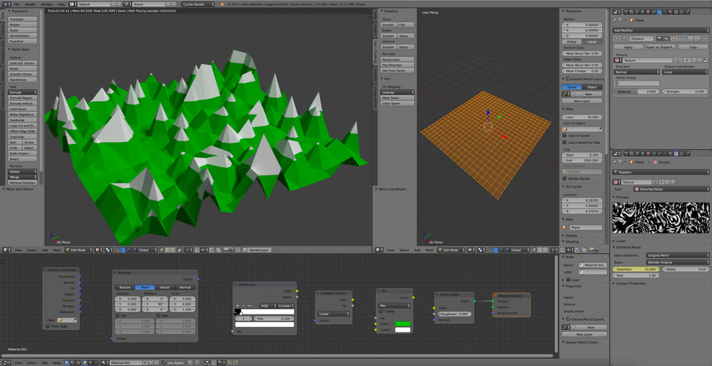 Low Poly Country - displace - material by anul147 on DeviantArt
