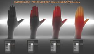 Hands - PRINCIPLED BSDF