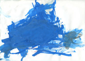 blue abstract draw by anul147
