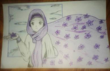 Violet Hijab by Mangaiq
