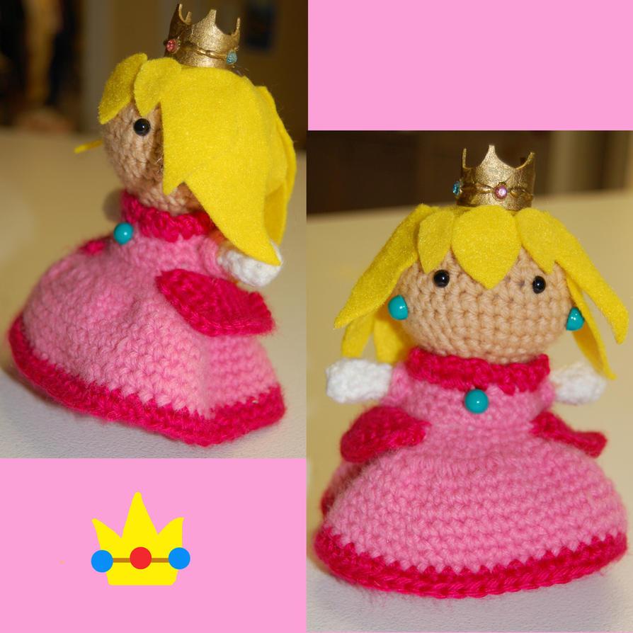 Princess Peach amigurumi by DarkTeaCrochet on DeviantArt