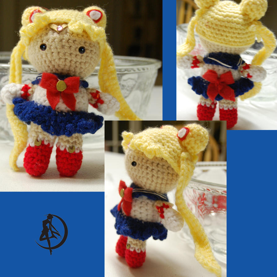 Moon Amigurumi Pattern Free : Sailor moon Amigurumi by DarkTeaCrochet on DeviantArt