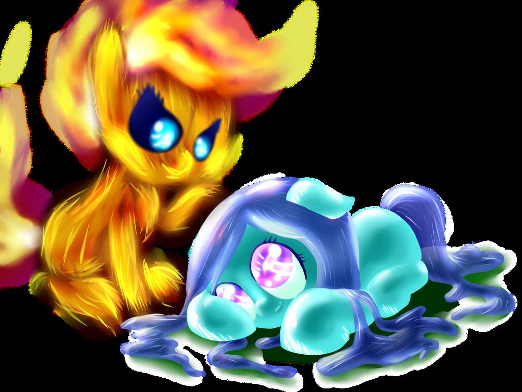 Elemental Ponies! by MidnightQuill