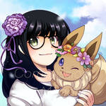 Commission - Maggie and Eevee