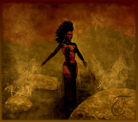 beautiful woman in black by wuckylady