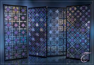 Gitter Glas Spiegel  by wuckylady