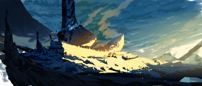 winter environment skech